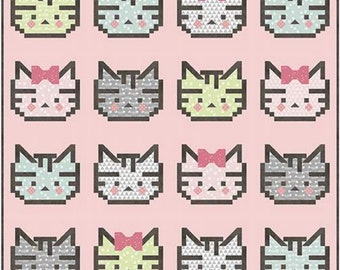Pattern - Patchwork Kitty Quilt - by Kelli Fannin - ( P076-PATCHWORKKITTY )