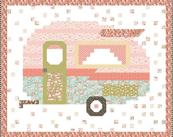 Pattern - Camper - Happy Camper Quilt Pattern - by Beverly McCullough of Flamingo Toes - ( P138-HAPPYCAMPER )