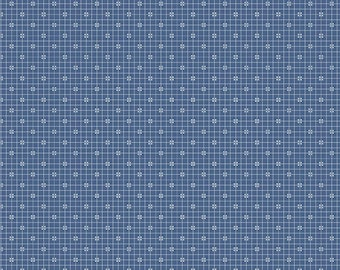 SALE - Denim - Plaid - Prim Collection - Quilting Cotton Fabric - Lori Holt of Bee in My Bonnet for Riley Blake Designs - ( C9701-DENIM )