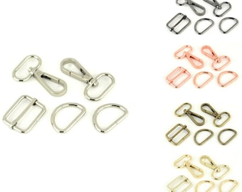 """Basic Hardware Kit - 1"""" inch - 25mm - Multiple Colors - by Sallie Tomato - ( STS194 )"""
