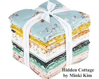 Hidden Cottage - Fat Quarter Bundle - 24 Fabrics - Quilting Cotton Fabric - by Minki Kim for Riley Blake Designs - ( FQ-10760-24 )