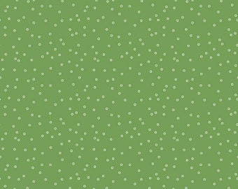 SALE - Clover - Circles - Prim Collection - Quilting Cotton Fabric - Lori Holt of Bee in My Bonnet for Riley Blake Designs -( C9693-CLOVER )