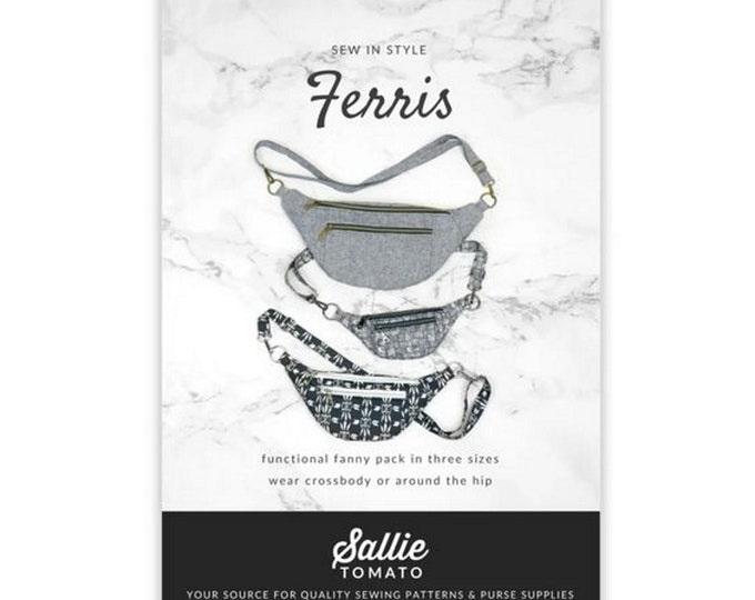 Pattern - Ferris - Fanny Pack with Hardware - Sallie Tomato - ( LST133 )