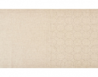 Cosmo Sashiko Cotton and Linen Precut & Printed Fabric - Natural Color - Circles - ( 98905-12 )