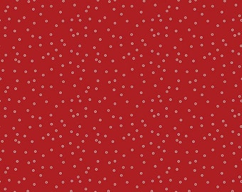 SALE - Prim Collection - Barn Red - Circles - Quilting Cotton Fabric - Lori Holt of Bee in My Bonnet for Riley Blake Designs-(C9693-BARNRED)