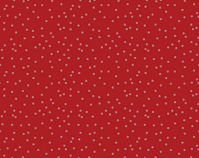 Barn Red - Circles - Prim Collection - Quilting Cotton Fabric - Lori Holt of Bee in My Bonnet for Riley Blake Designs - ( C9693-BARNRED )