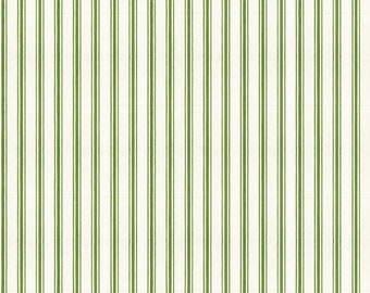 Snow Sweet Collection - Green - Candy Cane Ticking Stripe - Quilting Fabric - J. Wecker Frisch for Riley Blake Designs - ( C9670-GREEN )