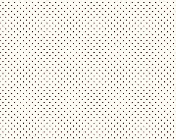 Brown - Le Creme Swiss Dot - Polka Dot - Quilting Cotton Fabric - Riley Blake Designs - ( C600-90-BROWN )