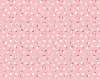 Frosting - Pink - Daisy - Vintage Happy 2 - Quilting Fabric - by Lori Holt of Bee in my Bonnet for Riley Blake Designs - ( C9137-FROSTING )