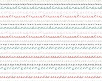 Sleep Tight Starry Night Collection - White - Horizonal Stripe - Sparkle - by Gabrielle Neil Design Studio - ( SC10263-WHITE )