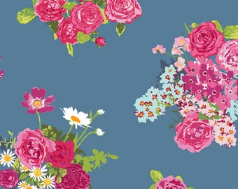 Floralish Collection - Cascading Blossoms - Quilting Cotton Fabric - by Katarina Roccella for Art Gallery Fabrics - AGF - ( FSH-17400 )