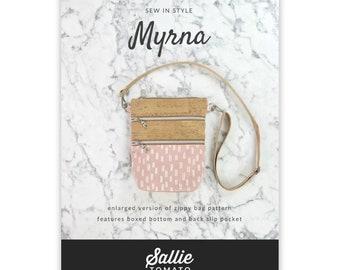 Pattern - Myrna - Zippy Crossbody Bag Pattern - Sallie Tomato - ( LST121P )