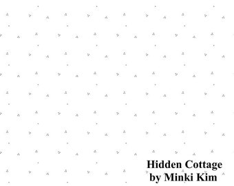 Hidden Cottage - Dots - Offwhite - Quilting Cotton Fabric - by Minki Kim for Riley Blake Designs - ( C10767-OFFWHITE )