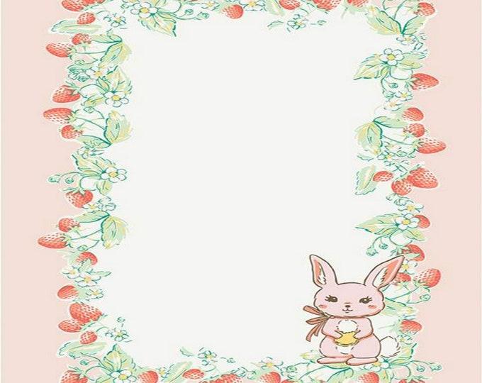 Bunnies and Cream Tea Towel - Lauren Nash for Riley Blake Designs - ( TT-6027 )
