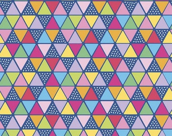 Rainbowfruit Collection - Blue - Triangles - by Amber Kemp-Gerstel of Damask Love for Riley Blake Designs - ( C10896-BLUE )