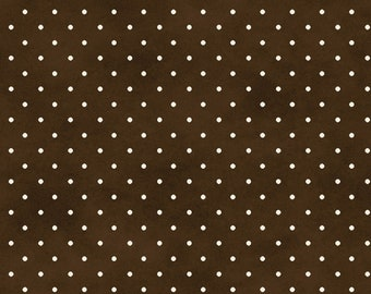 Beautiful Basics Collection - Brown - Classic Dot - Quilting Cotton Fabric - by Maywood Studio - ( 609M-AJ )