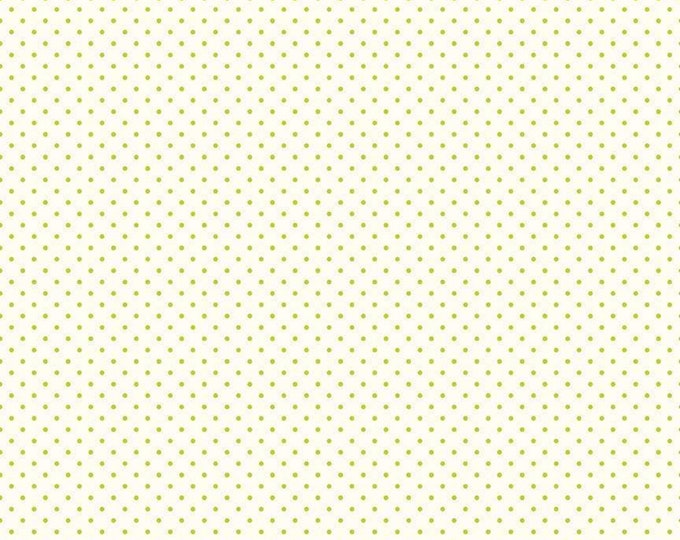 Lime - Le Creme Swiss Dot - Polka Dot - Quilting Cotton Fabric - Riley Blake Designs - ( C600-32-LIME )