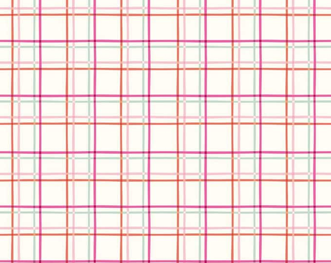 Cream - Plaid - New Dawn - Quilting Cotton Fabric - Citrus & Mint Designs for Riley Blake Designs - ( C9857-CREAM )