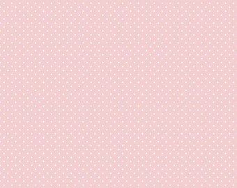 Swiss Dot with White Dots Collection - Baby Pink -  Polka Dot - Quilting Cotton Fabric - Riley Blake Designs - ( C670-BABYPINK )