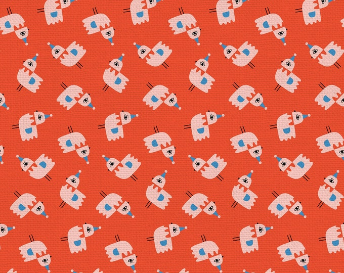Red - Bird Toss - Step Right Up Collection - Quilting Cotton Fabric - by Suzy Ultman for Paintbrush Studios - ( PSF120-21347 )