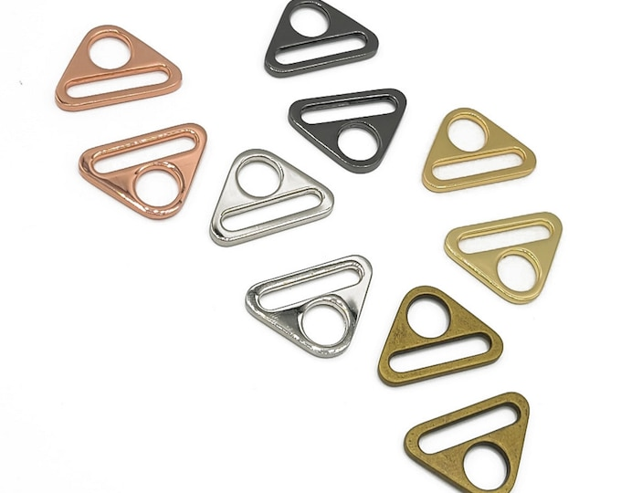 """Triangle Ring - 1"""" - by Emmaline - 1 INCH - 25mm - Multiple Colors - Bag Hardware - ( TRI-1INCH )"""