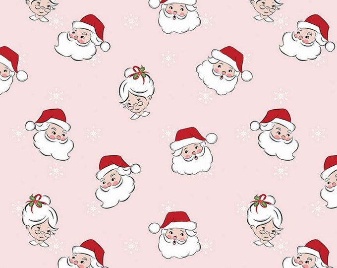 Pink - Mr & Mrs Claus - Santa Claus Lane Collection - By Melissa Mortenson of Polka Dot Chair for Riley Blake Designs - ( C9610-PINK )