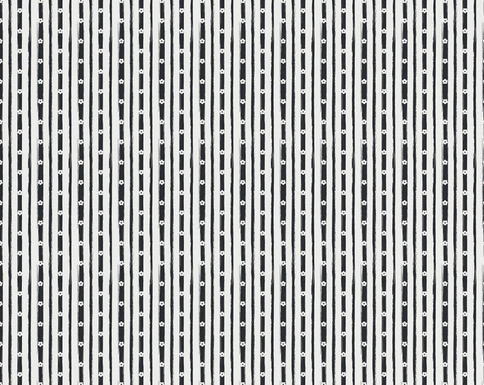 Black - Stripe - Abbies Garden Collection - Quilting Cotton - Sue Daley Designs with Gabrielle Neil for Riley Blake Designs -( C9574-BLACK )