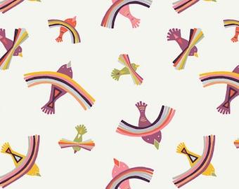 Bright Indiza - Kushukuru Collection - Quilting, Apparel, Cotton Fabric - by Jessica Swift for Art Gallery Fabrics - AGF - ( KUS-23706 )