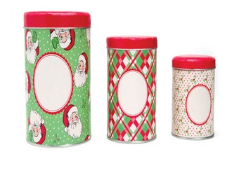 Canister Set - Tin Swell Holiday - 3 Canister Tin Set - by Urban Chiks - ( SWELL-TINSET )