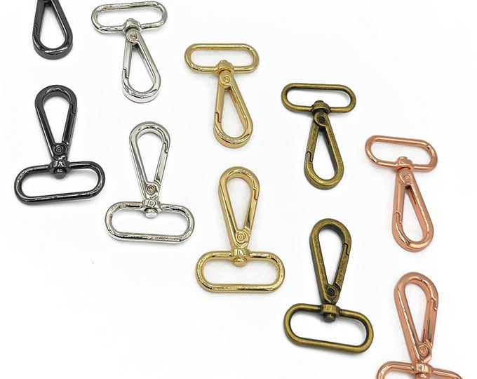 """Flat Hook - 1-1/2"""" inch - Swivel Snap Hooks - by Emmaline - 1.5"""" Inch - 38mm - One and Half Inch - Multiple Colors - ( FLATHOOK-1.5INCH )"""