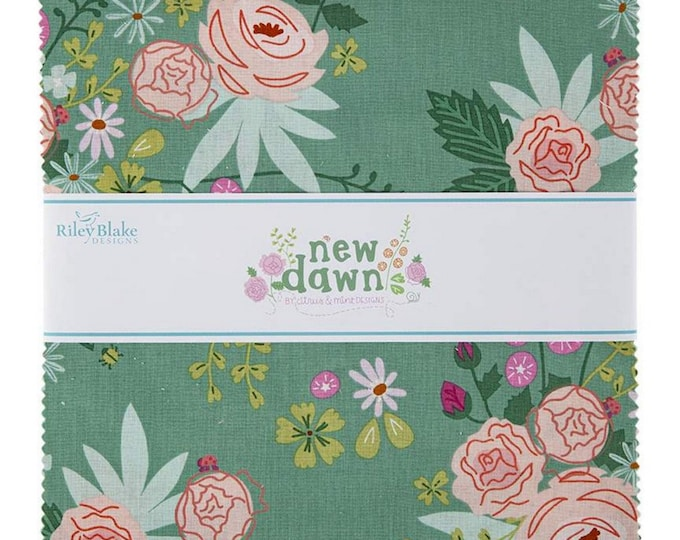 """New Dawn - 10"""" inch Stacker - Quilting Fabric - By Citrus & Mint Designs for Riley Blake Designs - ( 10-9850-42 )"""
