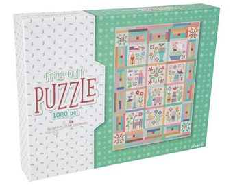Puzzle - 1000 Pieces - Prim Quilt - Lori Holt of Bee in My Bonnet for Riley Blake Designs - ( ST-16535 )