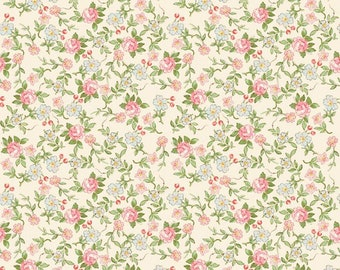 Cream - Rose & Violet's Garden Party - Quilting Cotton Fabric - by Miss Rose Sister Violet for Riley Blake Designs - ( C10413-CREAM )