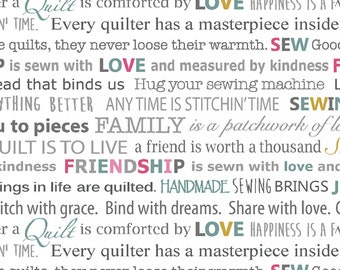 Quilter Words - Words to Quilt By - Contempo - ( CON6975-09 )