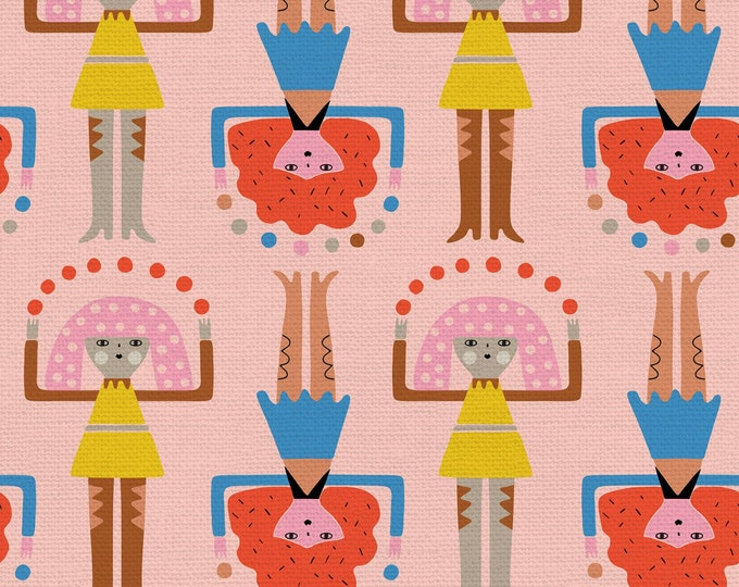 Pink - Jugglers - Step Right Up Collection - Quilting Fabric - by Suzy Ultman for Paintbrush Studios - ( PSF120-21350 )