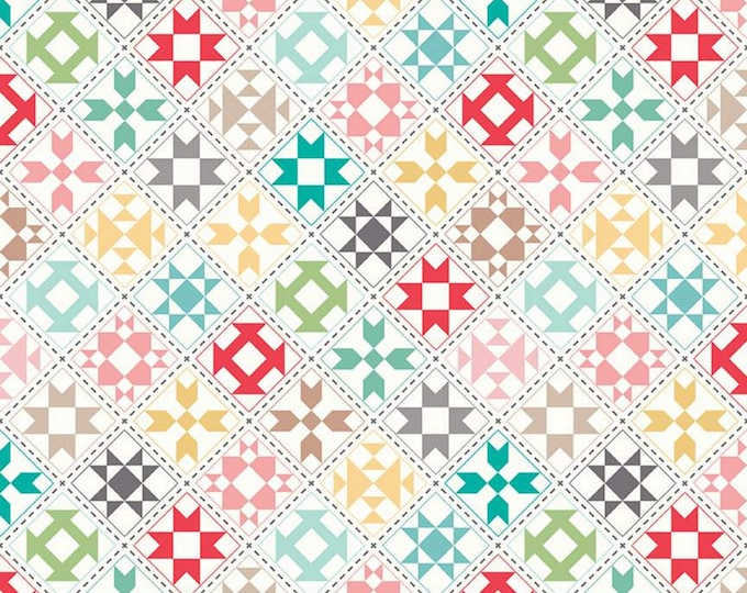 Cream - My Happy Place - Home Décor - Quilting Fabric - Lori Holt of Bee in my Bonnet for Riley Blake Designs - ( HD9314-CREAM )