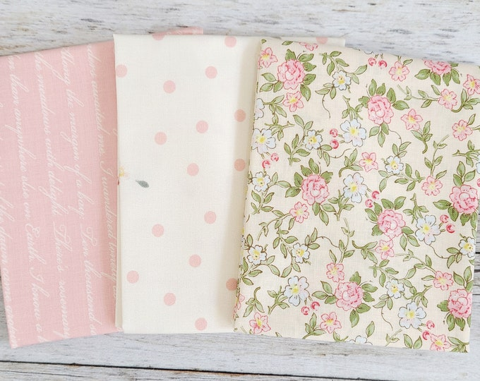 Collection 5 Fabrics - Curated Bundle Fat Quarter Rose /& Violet RVFQ-5