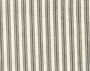 "Tea Towel - Ticking Stripe - Multiple Color Choices - Black - Green - Red - Navy - 20"" inch x 28"" inch - by Dunroven House-( K318-TEATOWEL )"