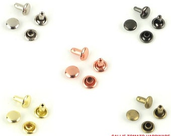 """Rivets - Small - 1/4"""" inch - .25"""" inch - 6mm - by Sallie Tomato - ( STS129 )"""