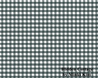 Hidden Cottage - Gingham - Forest - Quilting Cotton Fabric - by Minki Kim for Riley Blake Designs - ( C10765-FOREST )