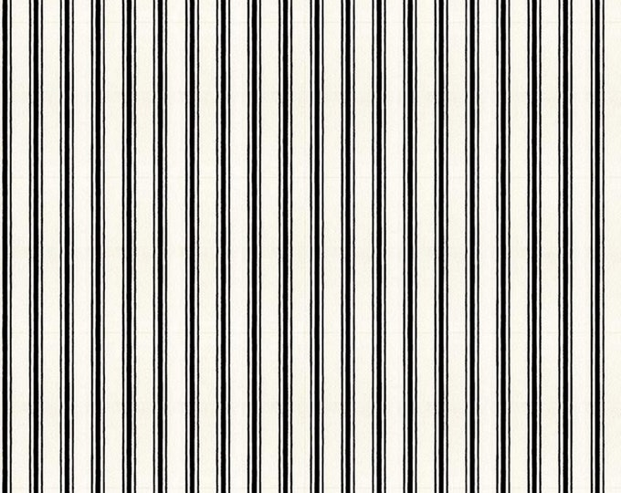 Black - Candy Cane Ticking Stripe - Snow Sweet Collection - Quilting Fabric - J. Wecker Frisch for Riley Blake Designs - ( C9670-BLACK )
