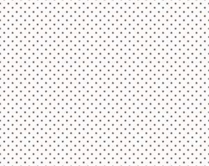 Brown - Swiss Dot on White - Polka Dot - Quilting Cotton Fabric - Riley Blake Designs - ( C660-90-BROWN )