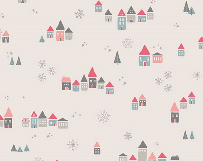 Snowdrift Joy - Little Town Collection - Quilting, Apparel, Cotton Fabric - by Amy Sinibaldi for Art Gallery Fabrics - AGF - ( LTO-8230 )