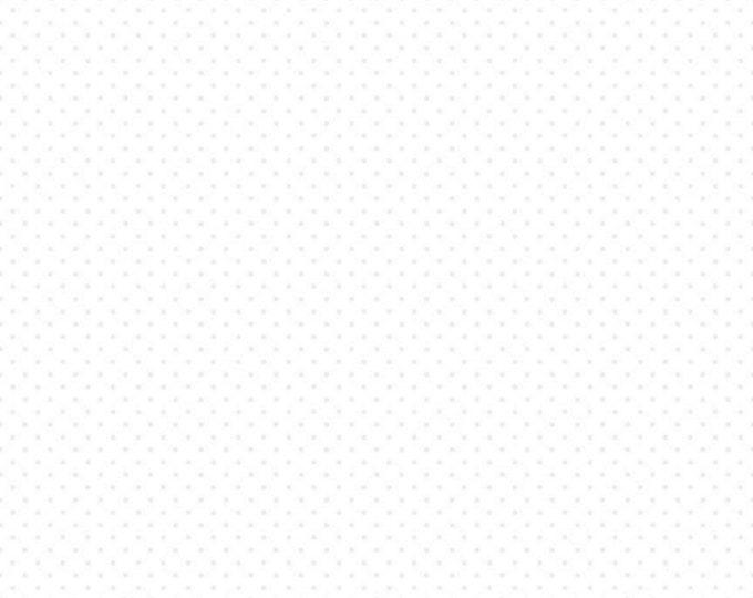 White - Tone on Tone - Swiss Dot on White -  Polka Dot - Quilting Cotton Fabric - Riley Blake Designs - ( C790-150-WHITE )