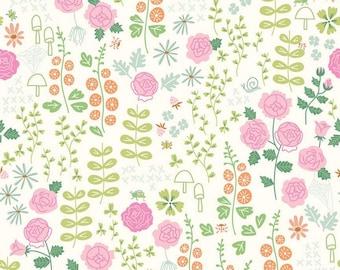 Cream - Rose Garden - New Dawn - Quilting Cotton Fabric - Citrus & Mint Designs for Riley Blake Designs - ( C9851-CREAM )