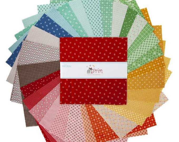 "Prim Collection - 10"" inch Stacker Bundle - Quilting Cotton Fabric - Lori Holt of Bee in My Bonnet for Riley Blake Designs ( 10-9690-42 )"