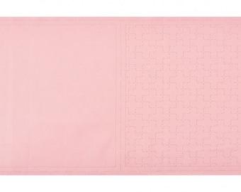Cosmo Sashiko Cotton and Linen Precut & Printed Fabric - Coral Color - Crosses - ( 98907-20 )
