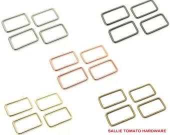 """Rectangle Ring - 1 1/2"""" inch - 1.5"""" inch - 38mm - Handbag - Purse - Multiple Colors - by Sallie Tomato - ( STS102 )"""
