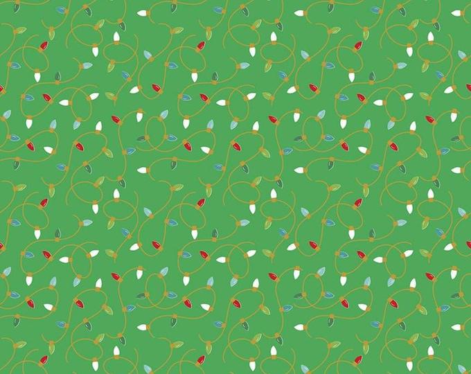 Green - Christmas Lights Sparkle - Santa Claus Lane - Melissa Mortenson of Polka Dot Chair for Riley Blake Designs - ( SC9614-GREEN )