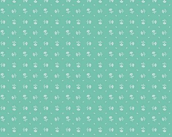 SALE - Prim Collection - Seaglass - Daisy - Quilting Cotton Fabric - Lori Holt of Bee in My Bonnet for Riley Blake Designs-( C9694-SEAGLASS)